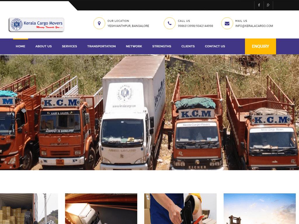 Transportation & Logistics Website Portfolio in India | Site solutions